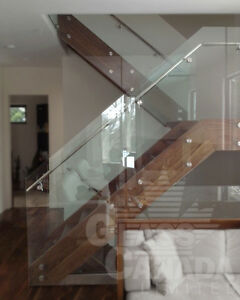 Glass Railings: Exterior and Interior.