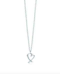 Tiffany and Co. open heart necklace