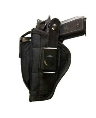 Black Side Gun Holster with Magazine Pouch fits Glock 42 (.380 CAL) with laser