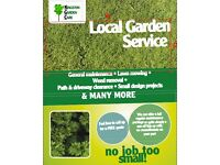 Local gardening service - general garden maintenance - competitive prices