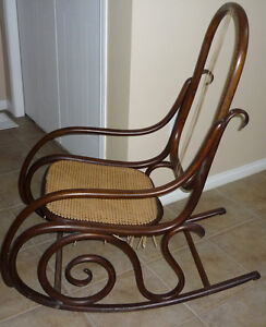 wood & Wicker Rocking Chair  ..Repair accessories included Cambridge Kitchener Area image 2
