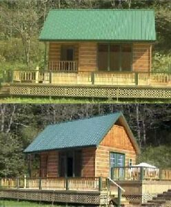 16x24-Cabin-w-Loft-Plans-Package-Blueprints-Material-List-Instruction ...