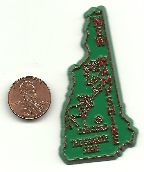 NEW HAMPSHIRE  OUTLINE MAP MAGNET CONCORD THE GRANITE STATE