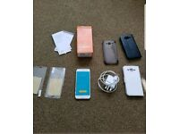 Samsung galaxy j5 white unlocked boxed hairline crack