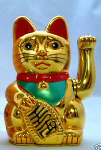 Chinese Feng Shui Golden Waving Fortune/ Lucky Cat 6