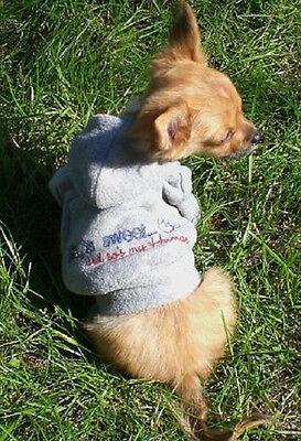 Hunde Pullover Fleece Hoodie grau XS Rl.20-25cm Umfang bis32cm Chihuahua