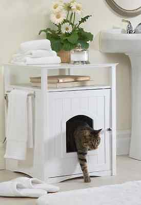 Cat Litter Box Furniture Extra Large Enclosed Covered Enclosure Bathroom - Litter Cabinet