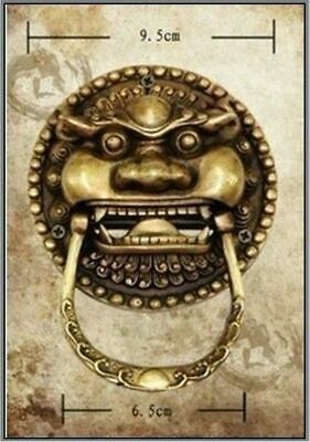 Chinese Ancient Bronze Foo Dog Foo Lion Door Bells Knocker Knockers