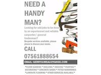 Handy Man - Carpenter - Builder - Painter & Decorator - Plumber - Flat Pack - Odd Jobs