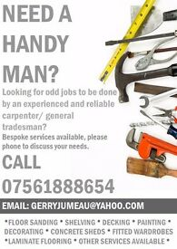 Handy Man - Carpenter - Builder - Painter & Decorator - Plumber - Flat Pack Assem. - Odd Jobs London