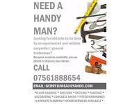 Handy Man - Carpenter - Builder - Painter & Decorator - Plumber - Flat Pack Assem. - Odd Jobs London