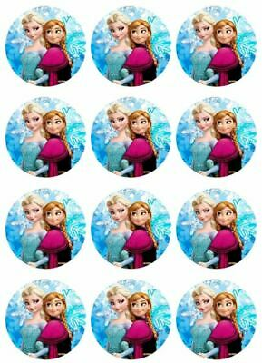 Disney Frozen Cupcake Toppers (Disney's Frozen Anna and Elsa Cupcake Toppers Edible Image)