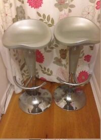 Pair of gas lift kitchen stools