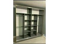 👌💕 BRAND NEW 2 and 3 DOORS SLIDING WARDROBE WITH FULL MIRRORS ALL SHELVES & RAILS INCLUDED🌈