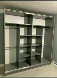 👌⭐ BRAND NEW STYLISH 2 AND 3 DOORS SLIDING WARDROBE WITH FULL MIRRORS, BOOK NOW!!