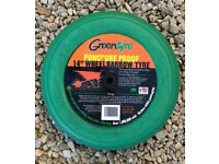 "Green tyre - 14"" wheel, for wheelbarrow"