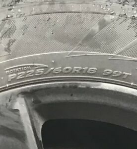 Set of 4 winter tires on 18 inch mags
