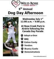 The Wild Rose Humane Society  5th annual Dog Day Afternoon
