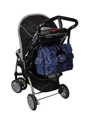 BNWT Kalencom Diaper Bag, Elite Python Delph Travel Blue Colour