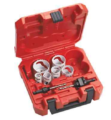 Milwaukee 49-22-4074 8pc Locksmiths Bi-metal Hole Saw Kit - In Stock
