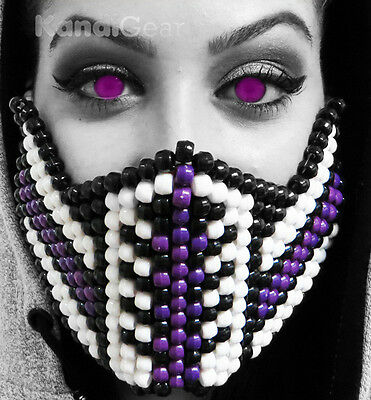 Mortal Kombat Purple Reptile Kandi Mask From KandiGear, Rave Gear and Costumes