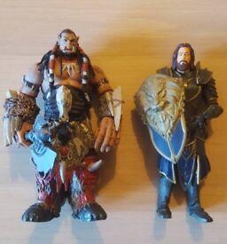 "Warcraft 6"" Durotan figure • 6"" Lothar figure"