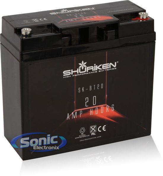 SHURiKEN SK-BT20 12V High Performance AGM Power Cell Car Battery