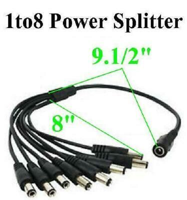 1 To 8 Power Splitter With 5.5mm X 2.1mm Ends, 1 Female Input, 8 Male Output - $2.39
