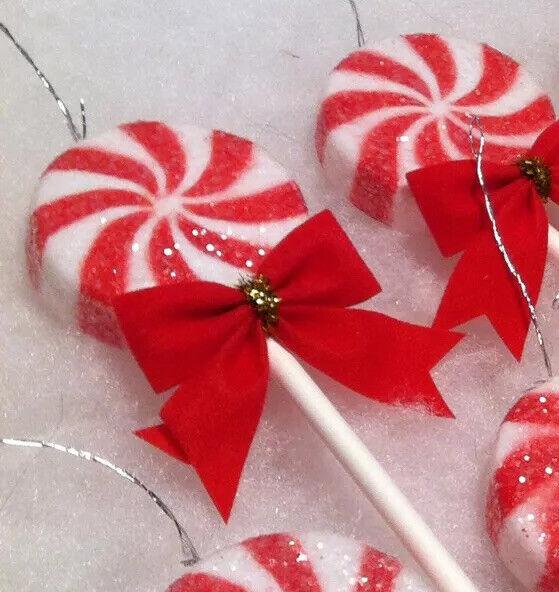 Peppermint Lollipop Christmas Ornaments, 4 pc. Tree decor