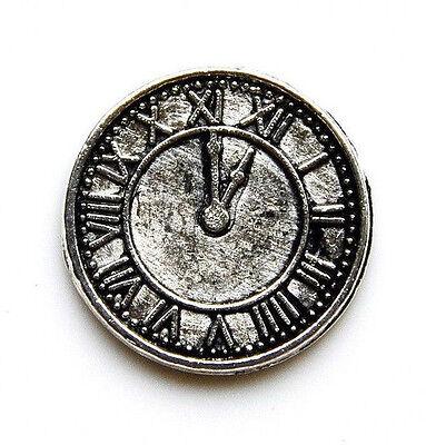 Clock Lapel Pin - Tie Tack - Gift Idea - Handmade - Gift Box