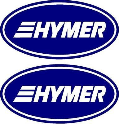 HYMER CARAVAN//MOTORHOME LARGE 2 PIECE KIT STICKER DECALS CHOICE OF COLOUR #010