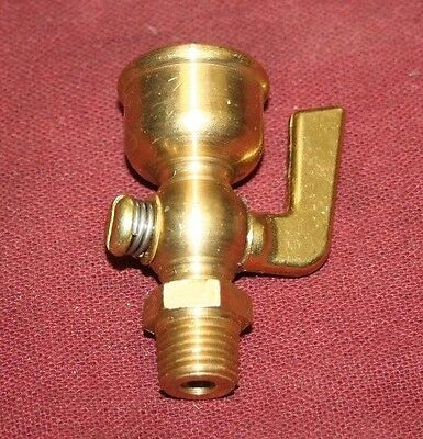 Hit Miss Gas Engine Motor Brass Primer Cup 2 14 Npt Fuel Steam Drain Cock