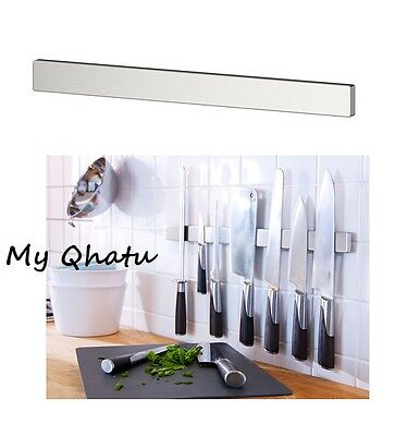 IKEA Grundtal Stainless Steel Magnetic Kitchen Knife Wall Rack Tool Holder NEW!