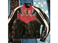 Leather sports motorcycle jacket