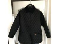 Genuine Black Barbour Jacket uk size 18.