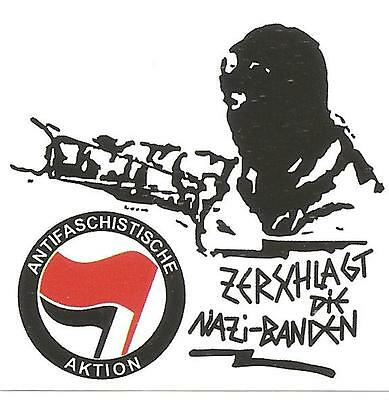 50 Zerschlagt die Nazibanden Aufkleber Anti Nazi GNWP Punk AFA Gegen Nazis ARA