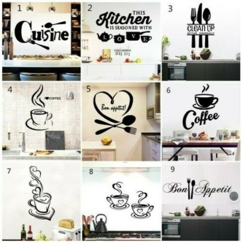 Home Decoration - Black Wall Stickers DIY Sticker Wall Decor Sticker Decals Art For Home Kitchen