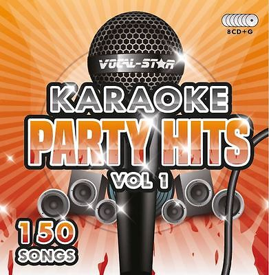 VOCAL-STAR PARTY HITS 1 KARAOKE CDG CD+G DISC SET 150 SONGS
