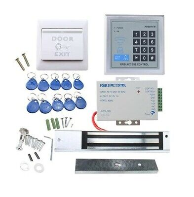 Rfid Door Access Control System Kit Agptek Key Fobs Exit Button Magnetic Lock