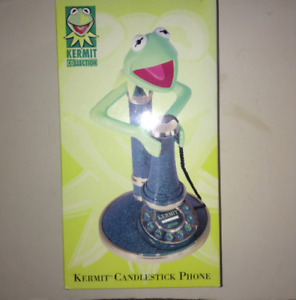 Vintage Kermit the Frog Candlestick Telephone in Box