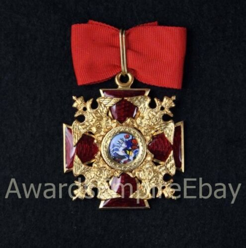 Russian Imperial Award - Cross of the Order of St. Alexander Nevskiy - copy