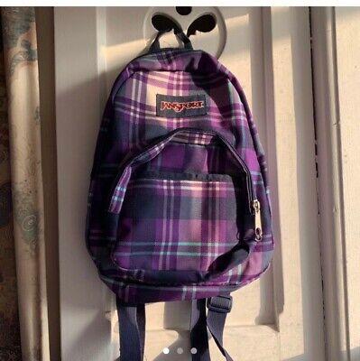 Jansport mini checked rucksack backpack