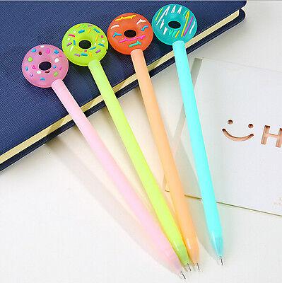 Snack donut pen kawaii special foughtnut gel pen kids like lovely geometric kawaii stationery gel pens black ink 038mm tip fineliners gumiabroncs Gallery