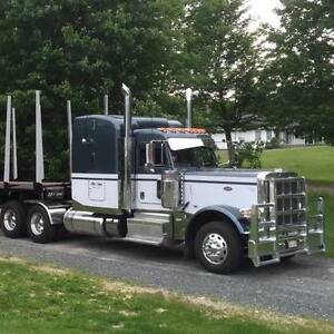 389 peterbilt with trailer and loader