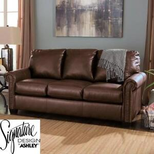 NEW DURABLEND FULL SLEEPER SOFA 171237365 SIGNATURE DESIGN BY ASHLEY PULL OUT COUCH SOFA 39'' H x 78'' W x 39'' D BROWN