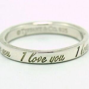 "Tiffany & Co. Silver ""I Love You"" Ring"