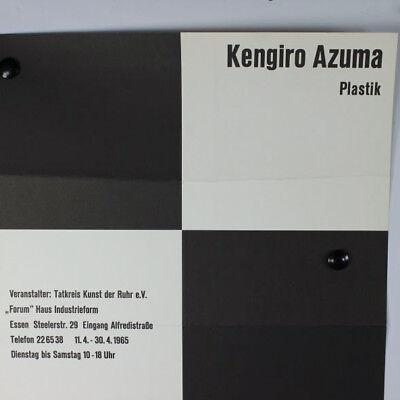 Kengiro Azuma, Herbert Schneider 1965 Plakat der Ausstellung Essen 60er Jahre