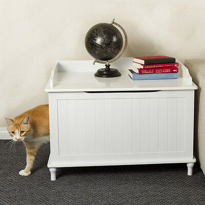 DESIGNER Pet LITTER BOX Enclosure COVER NightSTAND End Table Cat HOUSE Dog Crate