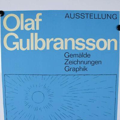 Olaf Gulbransson Plakat 1965 Ausstellung Nürnberg Simplicissimus Künstler Poster