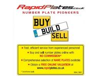 Buy Sell & Build Number Plates Sameday Delivery Car Van Bike Quad Number Plates
